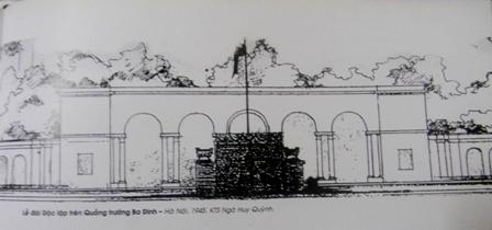 Lễ đài Độc lập trên Quảng trường Ba Đình 1945 - KTS Ngô Huy Quỳnh