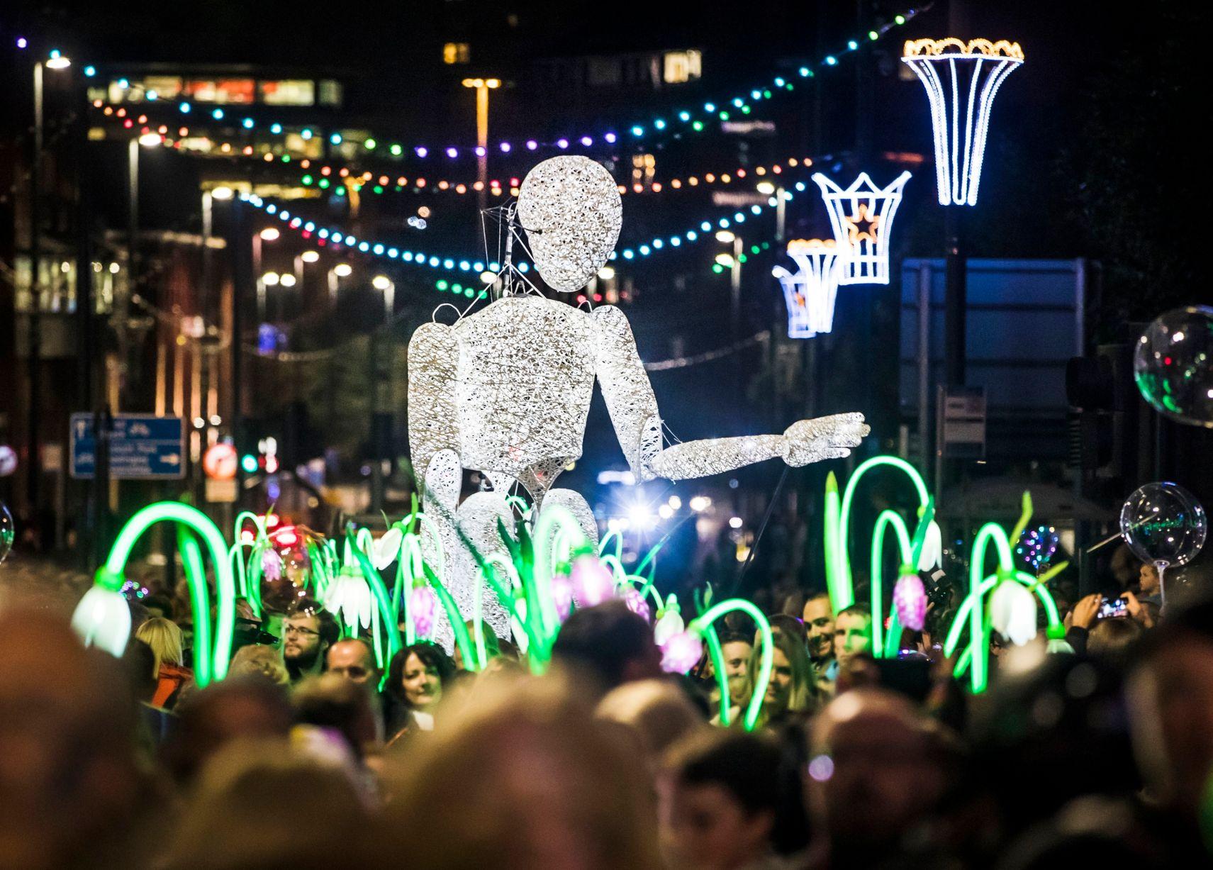 Hình ảnh tác phẩm tại Light Night Leeds 2019