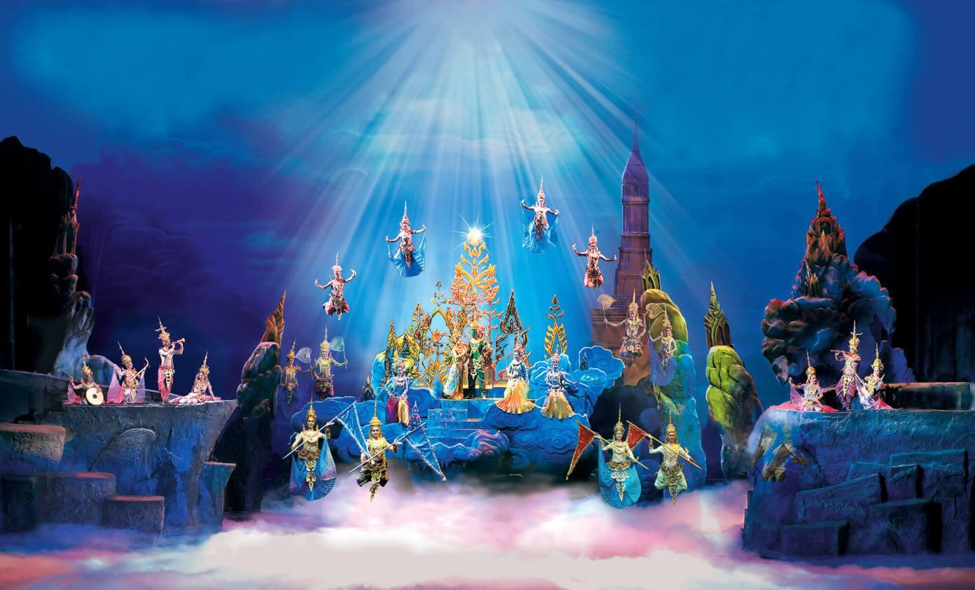 Thiên đàng trong Siam Niramit Show (hình ảnh: Siam Niramit)