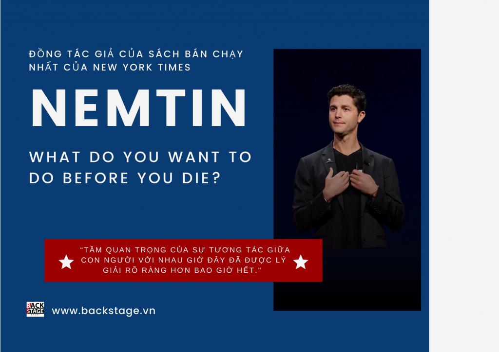 """Nemtin đồng tác giả cuốn sách bán chạy nhất của New York Times """"What do you want to do before you die?"""""""